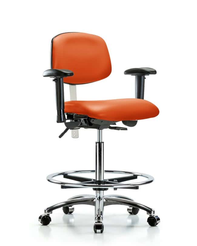 FisherbrandClass 100 Vinyl Clean Room Chair - High Bench Height with Adjustable