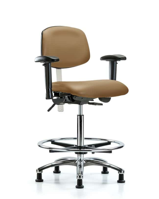 Fisherbrand Class 100 Vinyl Clean Room Chair - High Bench Height with Adjustable
