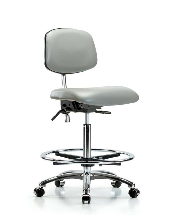 FisherbrandClass 100 Vinyl Clean Room Chair - High Bench Height with Seat