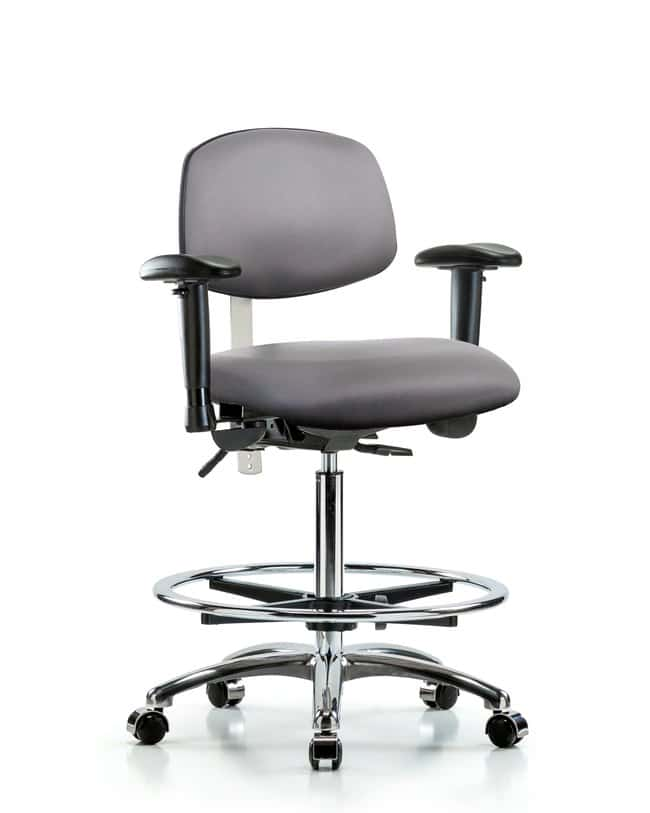 Fisherbrand Class 100 Vinyl Clean Room Chair - High Bench Height with Seat