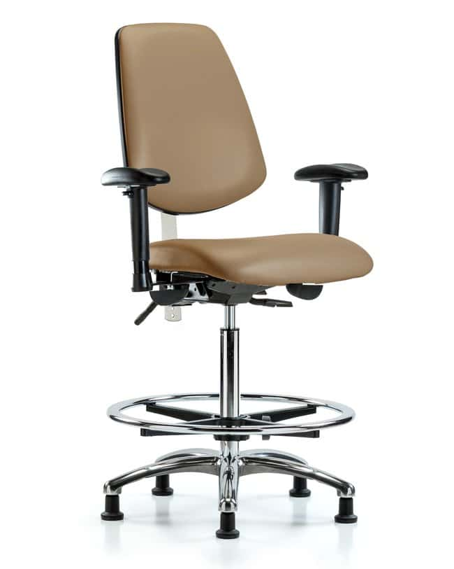 FisherbrandClass 100 Vinyl CR Chair - High Bench Height with Med Back:Furniture:Seating