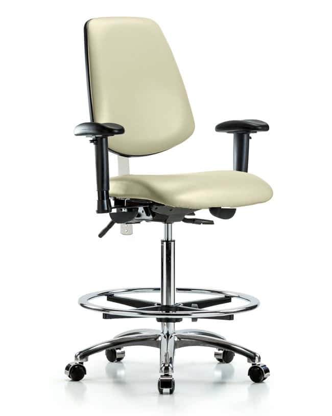 FisherbrandVinyl Stool without Back - Desk Height with Round Tube Base