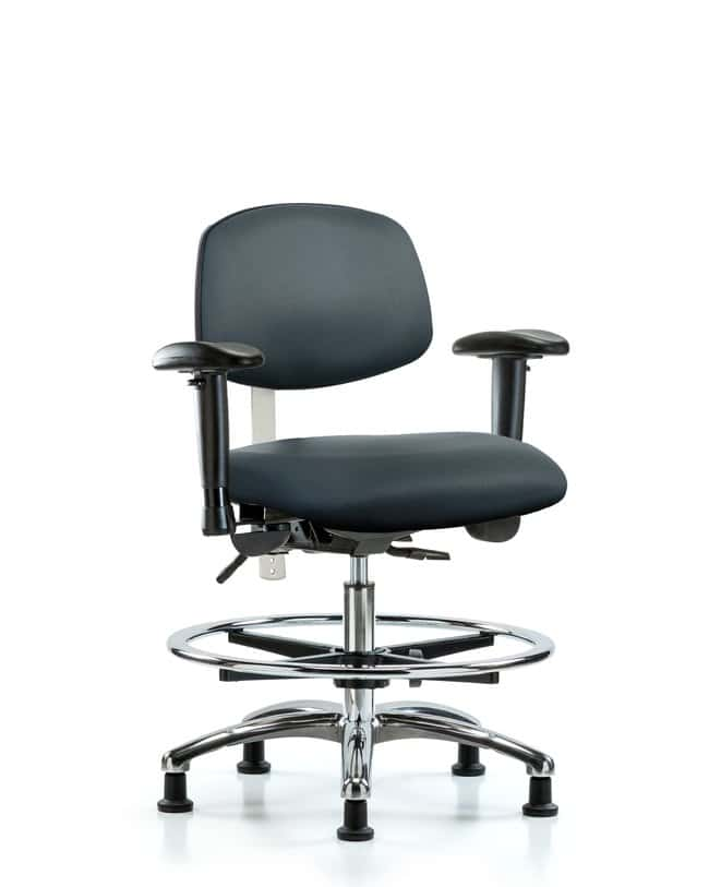 FisherbrandClass 100 Vinyl Clean Room Chair - Medium Bench Height with