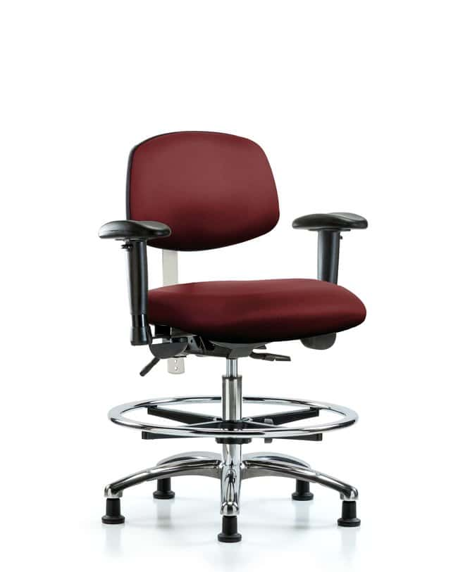 FisherbrandClass 100 Vinyl Clean Room Chair - Med Bench Height with Seat
