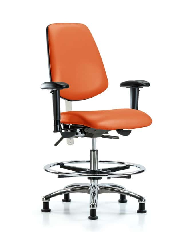 Fisherbrand Class 100 Vinyl CR Chair - Med Bench Height with Med Back Orange