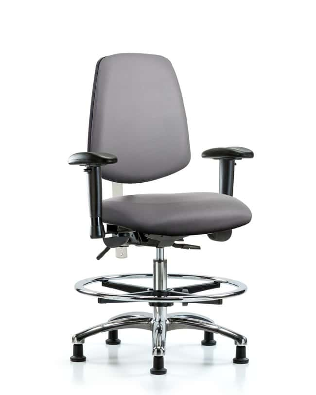 FisherbrandClass 100 Vinyl CR Chair - Med Bench Height with Med Back:Furniture:Seating