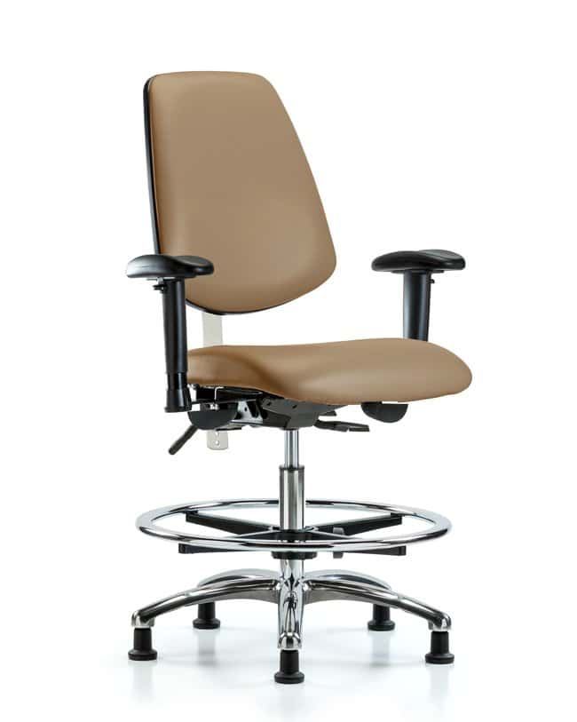 FisherbrandClass 100 Vinyl CR Chair - Med Bench Height with Med Back, Tilt:Furniture:Seating