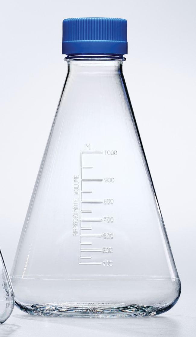 Thermo ScientificNalgene Single-Use PETG Erlenmeyer Flasks with Plain Bottom: