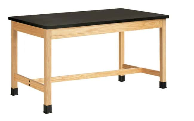 Diversified Woodcrafts Oak Table with  Plain Apron and Solid Phenolic Top: