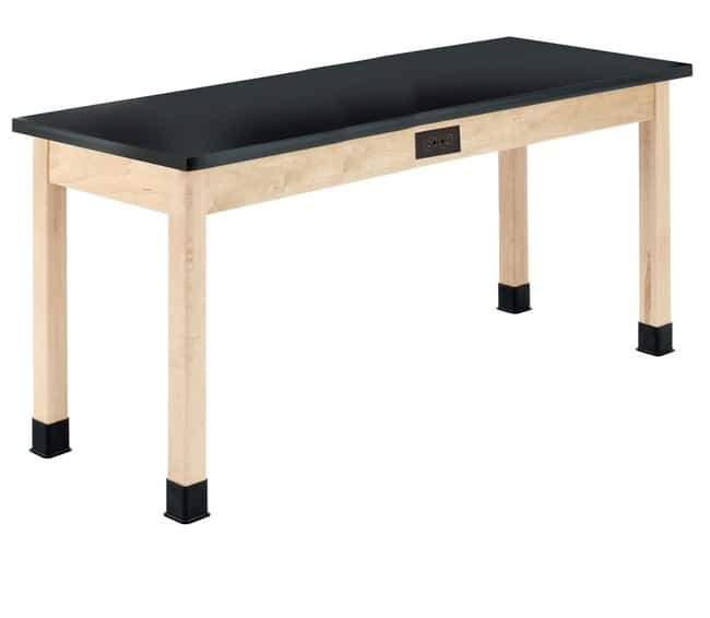 Diversified Woodcrafts Maple Table with  Plain Apron and Solid Epoxy Top: