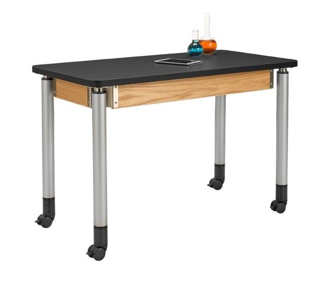 Diversified Woodcrafts Adjustable Height Oak Table  :Teaching Supplies:Classroom
