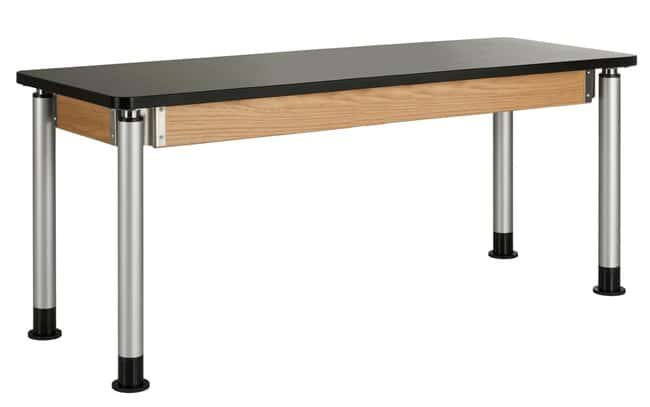 Diversified Woodcrafts Adjustable Height Oak Table  :Teaching Supplies:Classroom