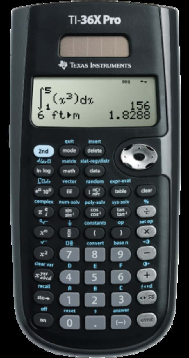 Texas Instruments TI-36X Pro Solar Calculator TI-36X Pro Solar calculator:Counting