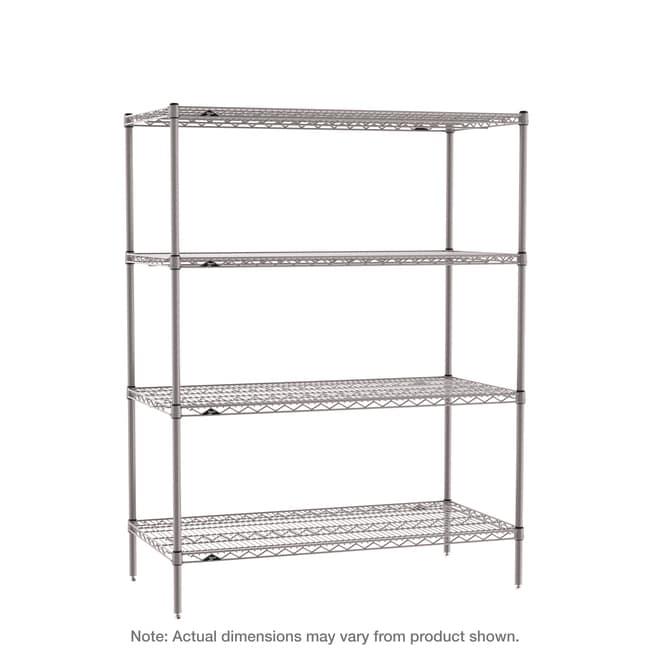 MetroSuper Erecta 4-Shelf Industrial Wire Shelving Starter Unit, Metroseal
