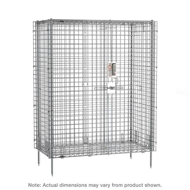 MetroqwikSLOT Stationary Security Shelving Unit, Chrome:Furniture:Shelving