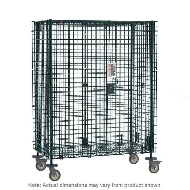 MetroSuper Erecta Mobile Security Shelving Unit, Metroseal Green Epoxy:Furniture:Shelving