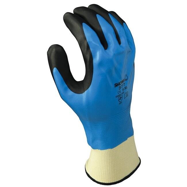 Showa 377 Dipped Nitrile Gloves::