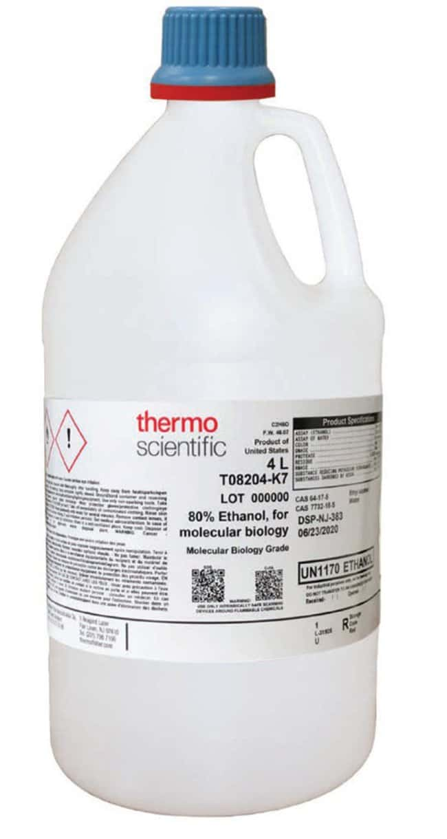 80% Ethanol, Molecular Biology Grade, Thermo Scientific™