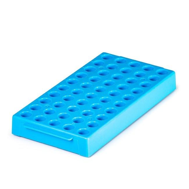 Fisherbrand Cryovial Workstation Rack Color: Blue:Racks, Boxes, Labeling