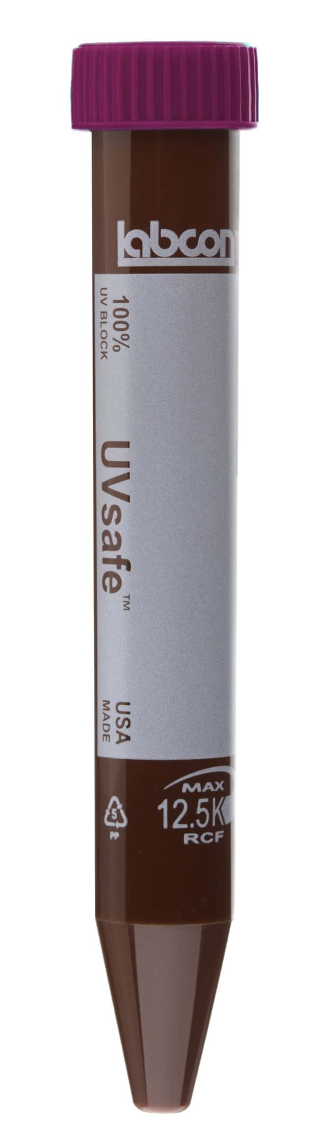 Labcon15 mL UVSafe™ Centrifuge Tubes with Plug Style Caps 25tubes par rack à faible teneur en fibre résiduelle/ 2racks par boîte/ 10boîtes par carton Labcon15 mL UVSafe™ Centrifuge Tubes with Plug Style Caps