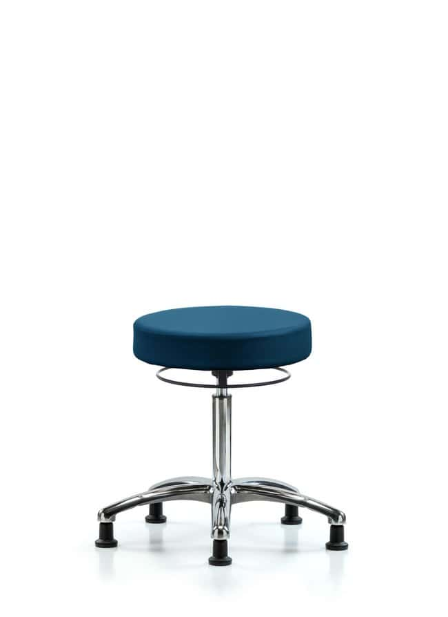 FisherbrandVinyl Stool without Back Chrome - Desk Height with Casters in