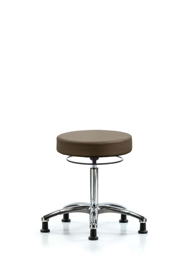 Fisherbrand Vinyl Stool without Back Chrome - Desk Height with Casters