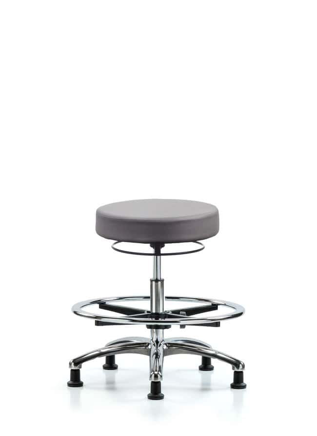 FisherbrandVinyl Stool without Back Chrome - Medium Bench Height with Chrome