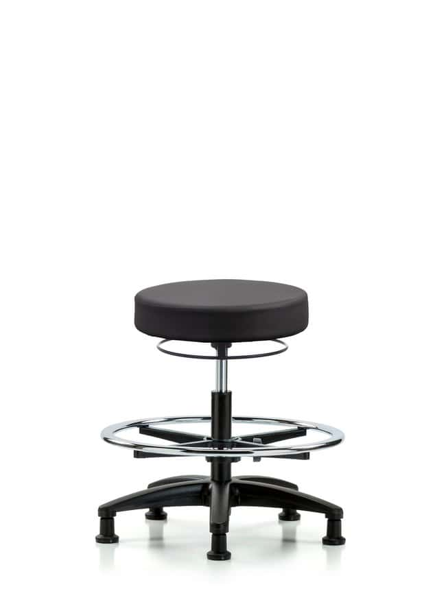 FisherbrandVinyl Stool without Back - Medium Bench Height with Chrome Foot