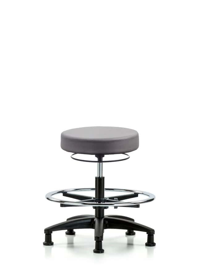 Fisherbrand Vinyl Stool without Back - Medium Bench Height with Chrome
