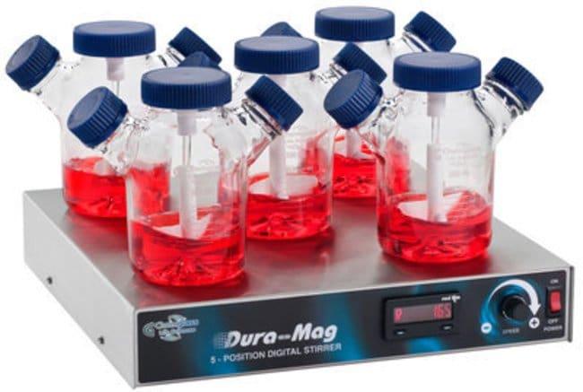 Chemglass Life Sciences Stirrer, Magnetic, Five Position, Dura-Mag, 120V,
