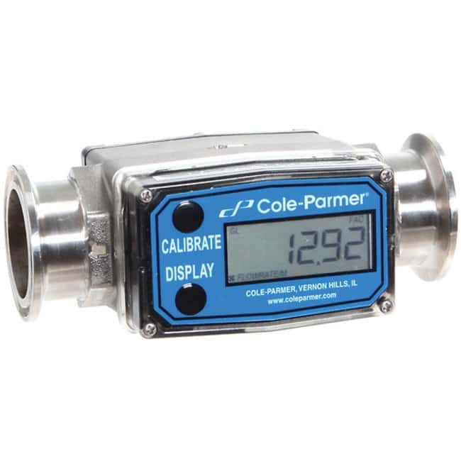 Cole-ParmerMasterflex Turbine Flowmeter/Totalizer with Heavy to Duty Housing,