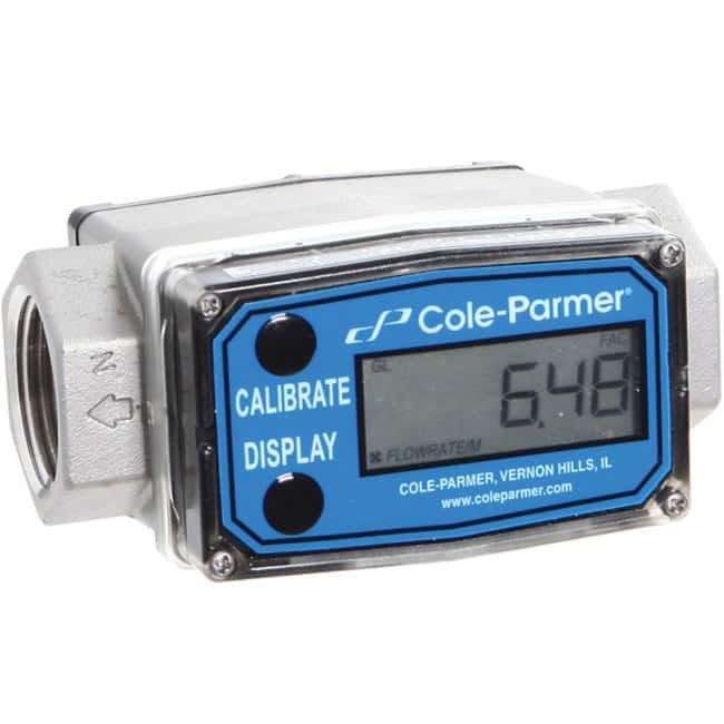 Cole-ParmerMasterflex Turbine Flowmeter/Totalizer with Heavy-Duty Housing,