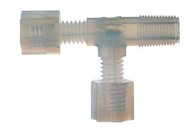"Cole-ParmerParker Hannifin GAMT-424 Compression Run Tee, PFA, 1/4"" OD X"