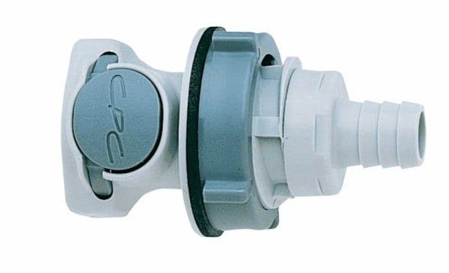 Cole-ParmerCPC (Colder) HFCD16612 Valved Bulkhead panel mount hose barb,