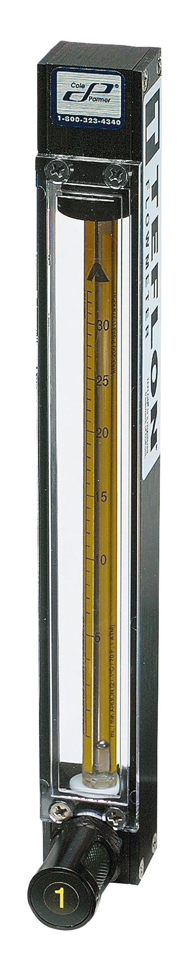 Cole-ParmerMasterflex Variable-Area Flowmeter with Valve, Direct-Reading,