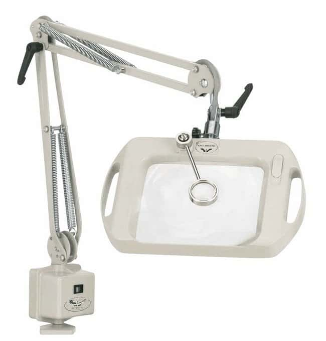 """Cole-ParmerO C White 71400 Wide-View Dimmable Illuminated Magnifier, 25"""""""