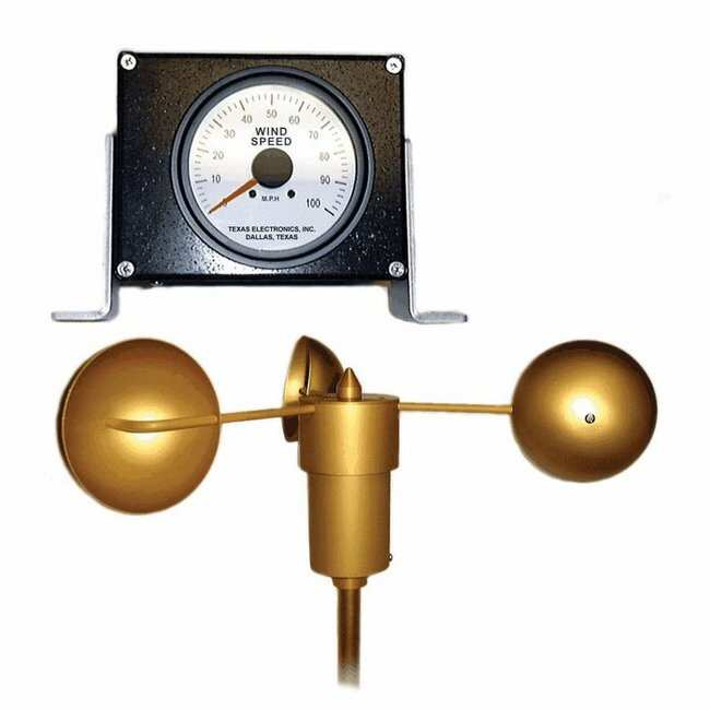 Cole-ParmerTexas Electronics 2-200 Analog Wind Speed System, 0 to 100 mph,