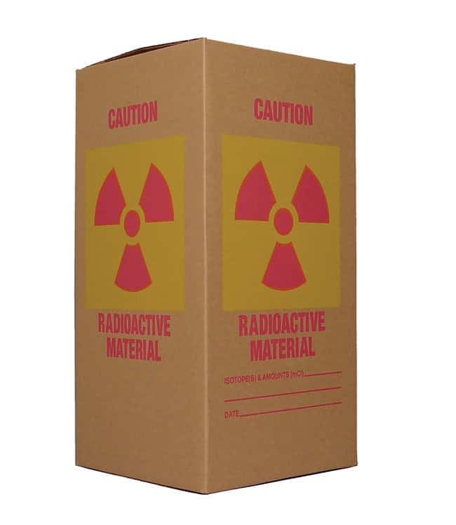 Research Products International Corp Corrugated Radioactive Waste Box,