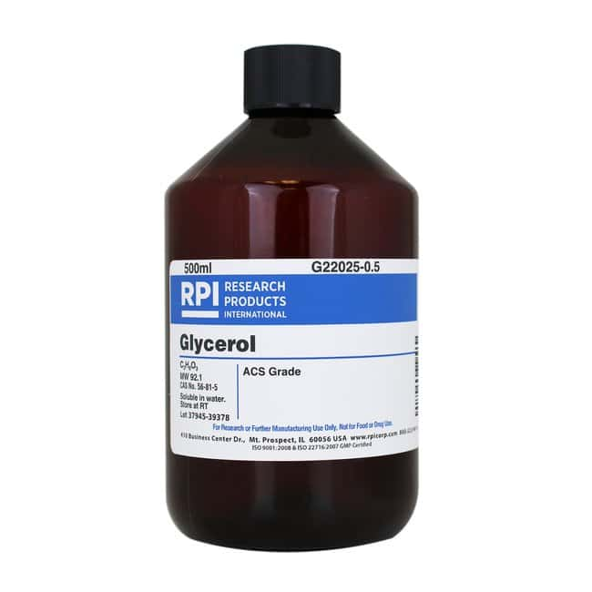 Research Products International CorpGlycerol, ACS Grade, 500 Milliliters