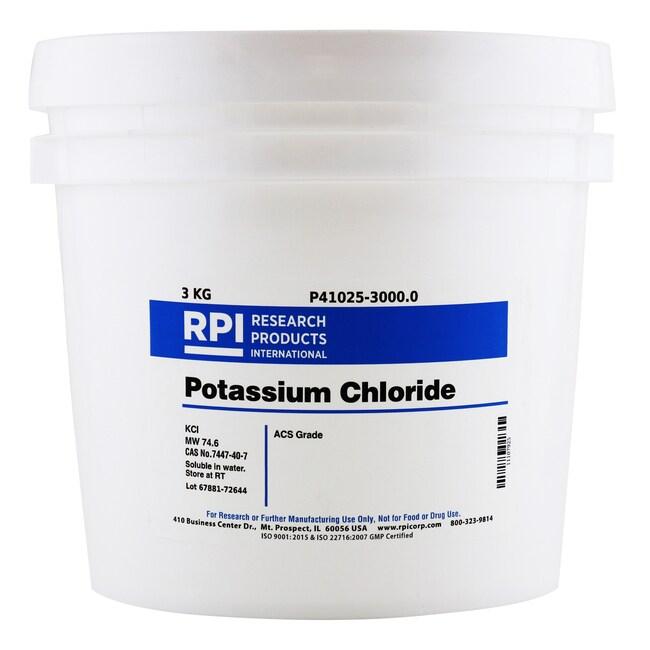 Research Products International CorpPotassium Chloride, ACS Grade, 3 Kilograms