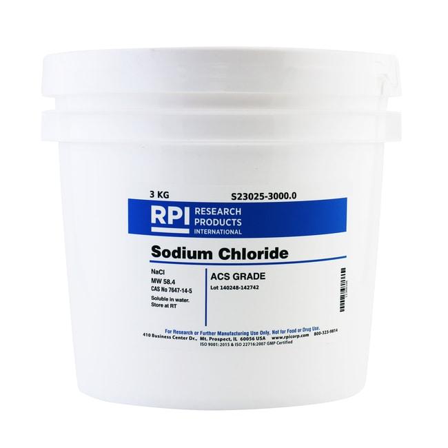 Research Products International CorpSodium Chloride, ACS Grade, 3 Kilograms