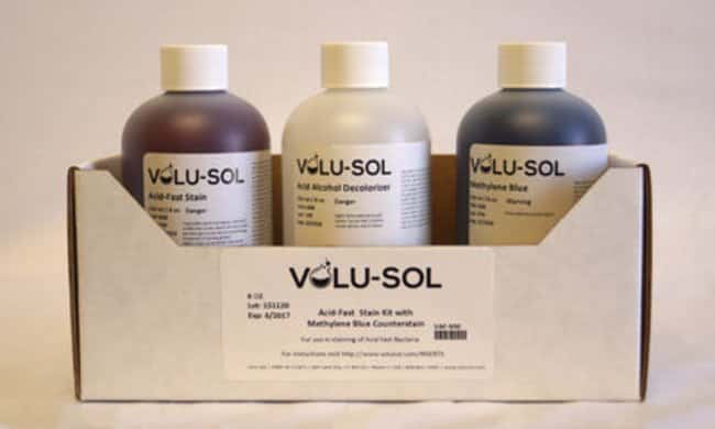 Volu SolAcid-Fast Stain Kit with Methylene Blue Counterstain, 8 oz / 250