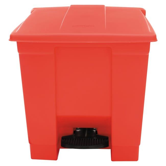 EssendantIndoor Utility Step-On Waste Container, Square, Plastic, 8gal,