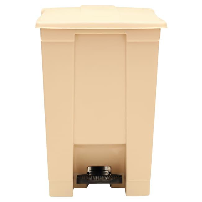 Essendant Indoor Utility Step-On Waste Container, Square, Plastic, 12gal,