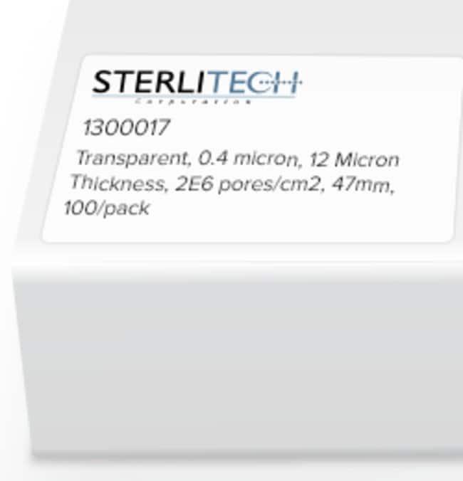 Sterlitech Corporation Polyester (PETE) Membrane Filters, Transparent,