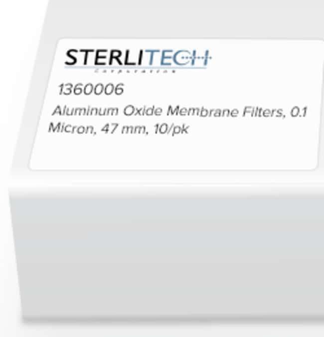 Sterlitech Corporation Aluminum Oxide Membrane Filters, 0.1 Micron, 47mm,