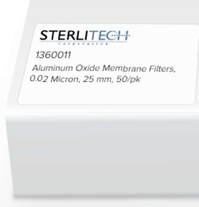 Sterlitech Corporation Aluminum Oxide Membrane Filters, 0.02 Micron, 25mm,