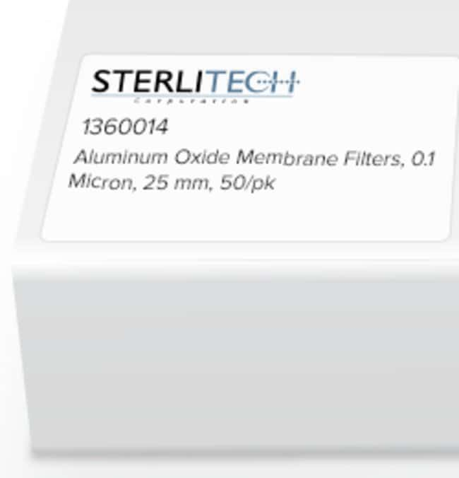 Sterlitech Corporation Aluminum Oxide Membrane Filters, 0.1 Micron, 25mm,