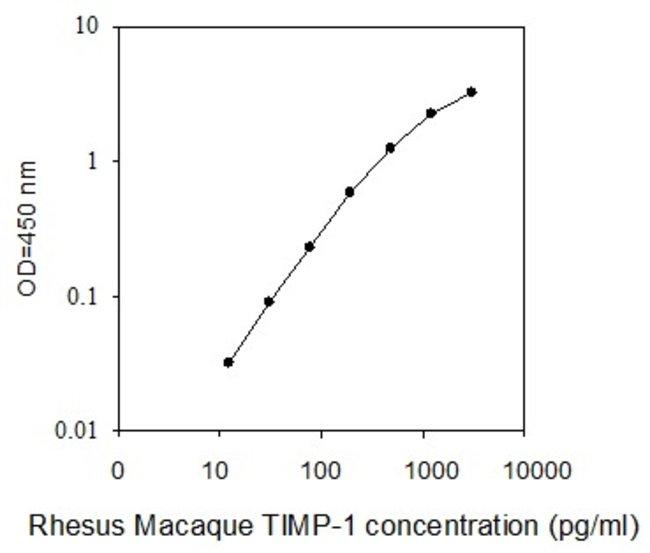 Raybiotech Inc Rhesus Macaque TIMP-1 ELISA Kit  RHESUS MACAQUE TIMP-1 ELISA
