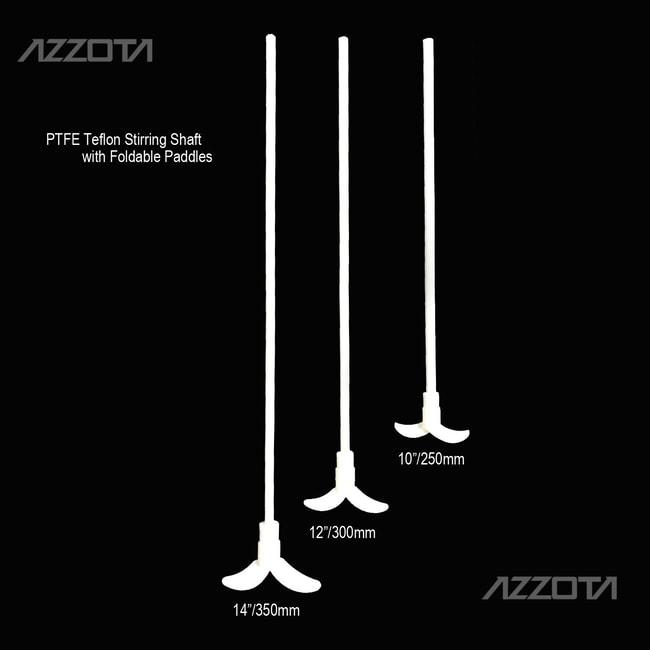 "Azzota Corp PTFE Stirring Shaft with Foldable Paddles, 14""  PTFE STIR SHFT"